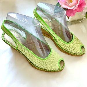 Azura Espadrille Jute Braided Wedge Spain Green 37